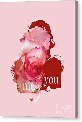 Yes Valentine  Me And You Canvas Print by Johannes Murat