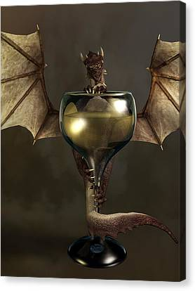 Tasting Canvas Print - Mead Dragon by Daniel Eskridge