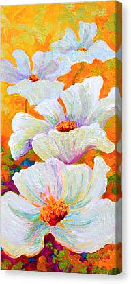 Meadow Angels - White Poppies Canvas Print by Marion Rose