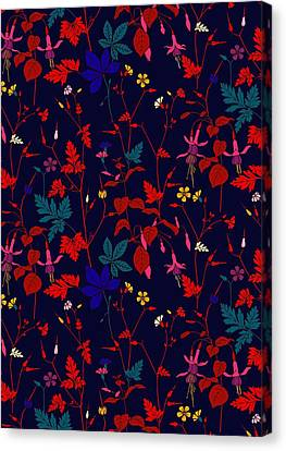 Red Leaf Canvas Print - Meadow Field by Sholto Drumlanrig