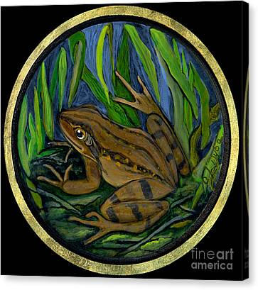Meadow Frog Canvas Print