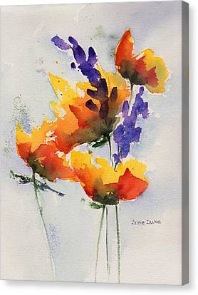 Meadow Muse Canvas Print by Anne Duke