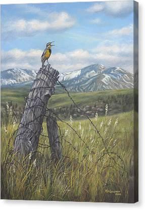 Meadowlark Serenade Canvas Print by Kim Lockman