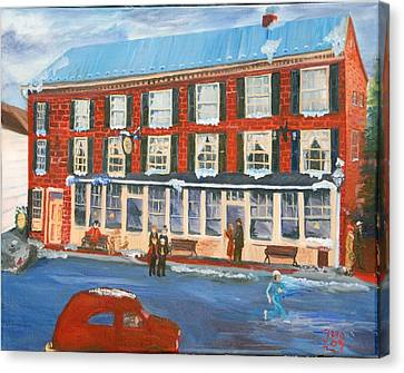 Mealeys Tavern Canvas Print by Gloria Condon