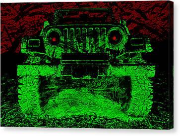 Mean Green Machine Canvas Print by Luke Moore