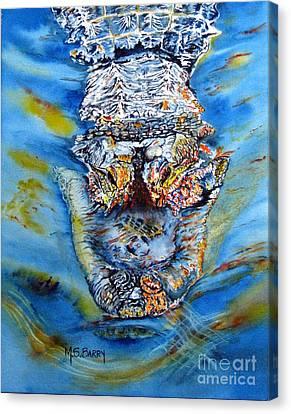 Mean Machine Canvas Print by Maria Barry