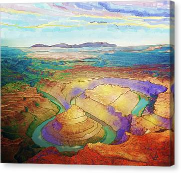 Meander Canyon Canvas Print