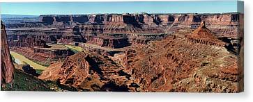 Meander Overlook - Dead Horse Point - Panorama Canvas Print by Nikolyn McDonald