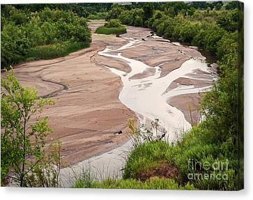 Meandering Sky Canvas Print by Fred Lassmann