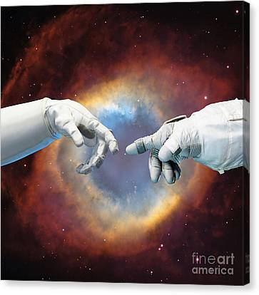 Meanwhile, In Space Canvas Print by Jacky Gerritsen