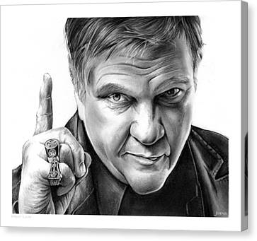 Meat Loaf Canvas Print by Greg Joens