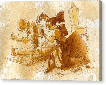 Mechanic Canvas Print by Brian Kesinger