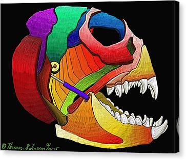 Mechanic Fishhead Canvas Print
