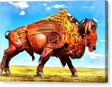 Mechanical Bull - Da Canvas Print by Leonardo Digenio