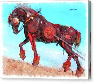 Mechanical Horse Canvas Print