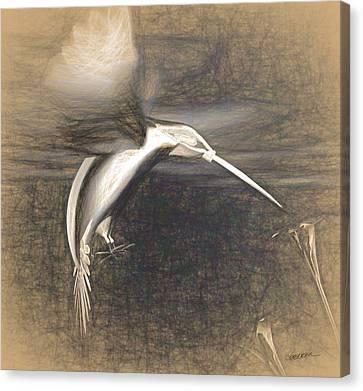 Mechanical Hummingbird Canvas Print by Cynthia Decker