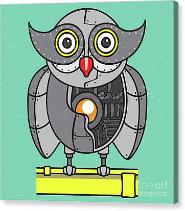 Mechanical Owl Artwork Canvas Print by Jorgo Photography - Wall Art Gallery