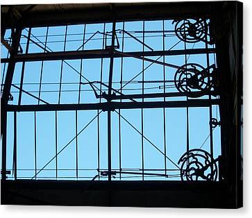 Ford Plant Canvas Print - Mechanical Windows by Edmund Akers