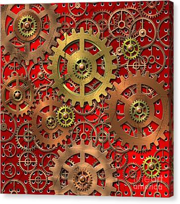 Mechanism Canvas Print by Michal Boubin