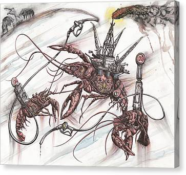 Mechanized Mudbugs, Branded Fleur De Lis, Scourge The Seas Canvas Print by Tai Taeoalii