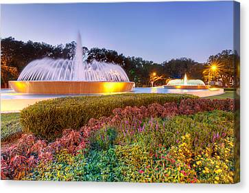Mecom Fountain Canvas Print by Tim Stanley