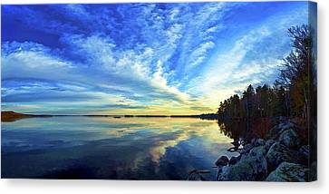 Meddybemps Reflections 1 Canvas Print by ABeautifulSky Photography
