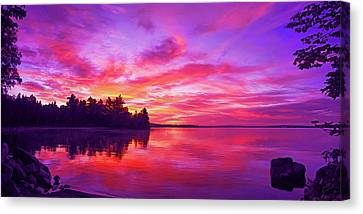 Canvas Print featuring the photograph Meddybemps Sunrise by ABeautifulSky Photography