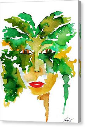 Medeina Goddess Of The Woodland Forest Canvas Print