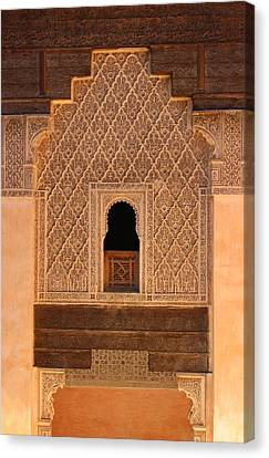 Canvas Print featuring the photograph Medersa Ben Youssef by Ramona Johnston