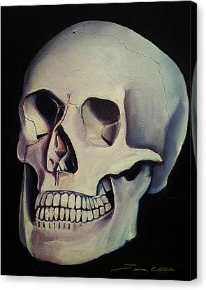 Medical Skull  Canvas Print by James Christopher Hill