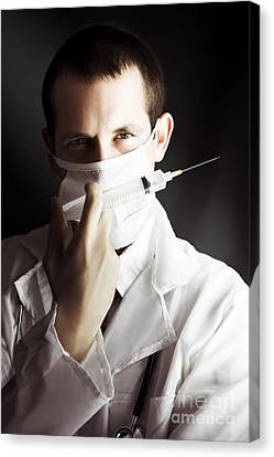 Medical Surgeon With Prescribed Medicine Injection Canvas Print by Jorgo Photography - Wall Art Gallery