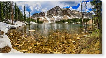 Medicine Bow Mountain Range Lake Panorama Canvas Print by James BO  Insogna