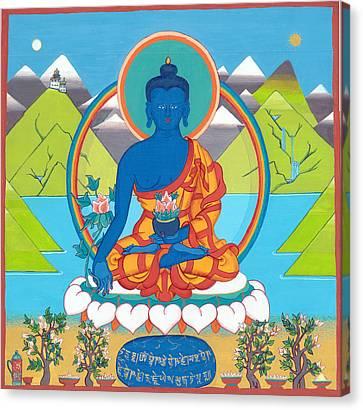 Medicine Buddha Or Bhaishajyaguru Canvas Print by Berty Sieverding