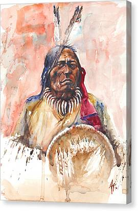 Canvas Print featuring the painting Medicine Man by Arthur Fix