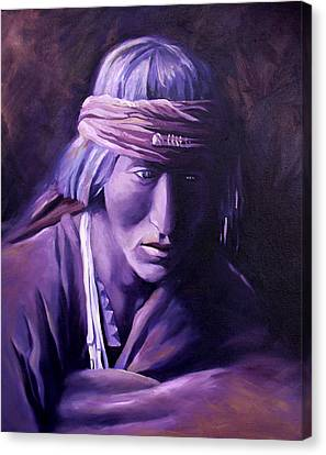 Canvas Print featuring the painting Medicine Man by Nancy Griswold