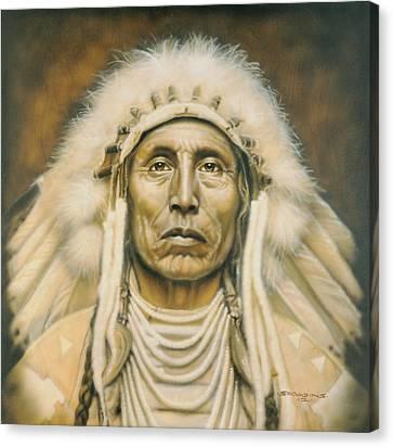 Indian Portraits Canvas Print - Medicine Man by Timothy Scoggins