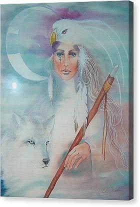 Medicine Woman Canvas Print by Christine Winters