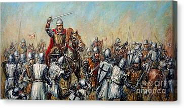 Medieval Battle Canvas Print