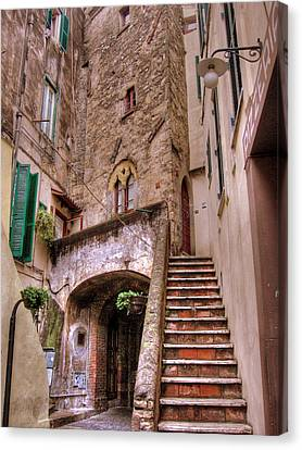 Medieval Borgo In Nettuno Canvas Print