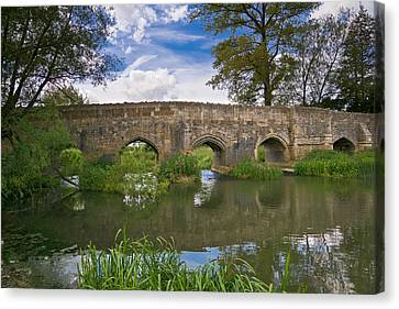 Medieval Bridge Canvas Print by Scott Carruthers