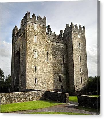 Medieval Bunraty Castle Ireland Canvas Print by Pierre Leclerc Photography