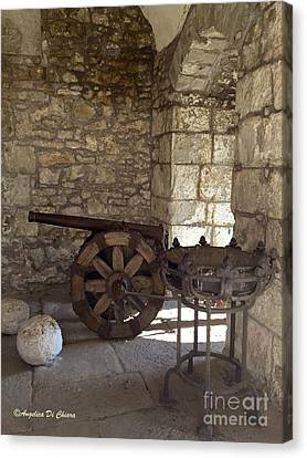Medieval Cannon- Lucca Canvas Print by Italian Art