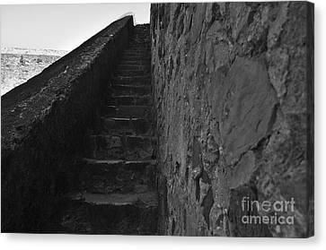 Medieval Castle Staircase Canvas Print