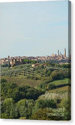 Medieval City Of Siena In Italy Canvas Print