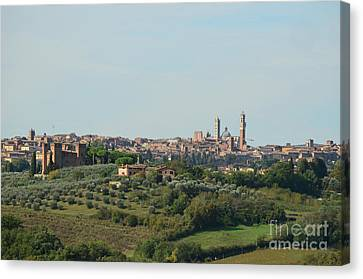 Medieval City Of Siena In Tuscany Canvas Print