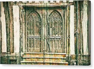 Medieval Entrance Canvas Print - Medieval Doors by Tom Gowanlock