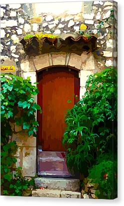 Medieval Doorway, Eze Canvas Print by Brian Shaw
