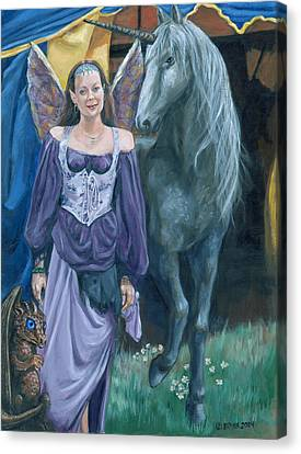 Canvas Print featuring the painting Medieval Fantasy by Bryan Bustard