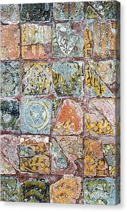 Medieval Floor Tiles Pattern Canvas Print by Tim Gainey