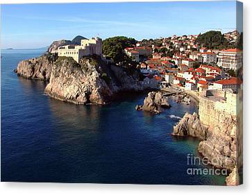 Medieval Fortresses Lovrijenac And Bokar Dubrovnik Canvas Print by Jasna Dragun